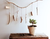 Handmade driftwood mobile hanging art from Australian beach wood - One of a kind