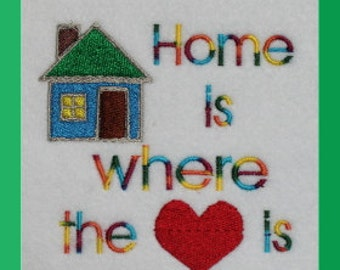 Home is where the heart is Digitized Machine Embroidery Design Country