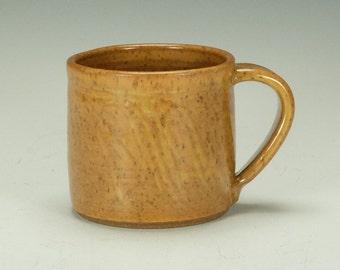 Pottery mugs.  Handmade stoneware mugs.  Butterscotch mugs.  Ready to ship.
