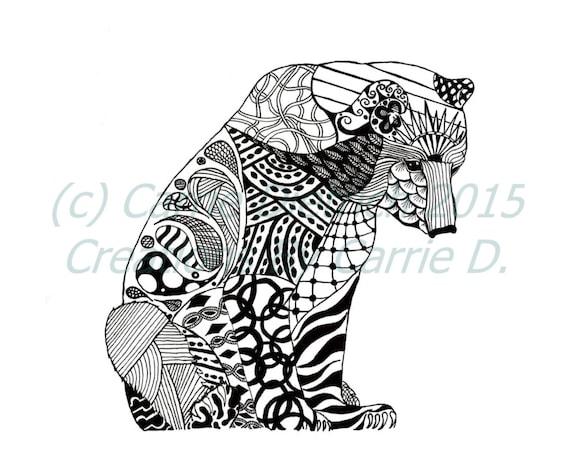 Art Ours Dessin Bear Par CreationsByCarrieD