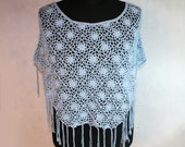 lace poncho with tassels