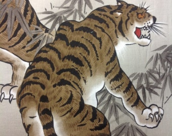 Crouching Tiger fabric - BTY