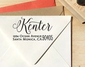 Calligraphy Return Address Stamp for weddings and save the date, personalized gift for holidays, housewarming and weddings