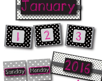 Hot Pink, Black & White Calendar Pack