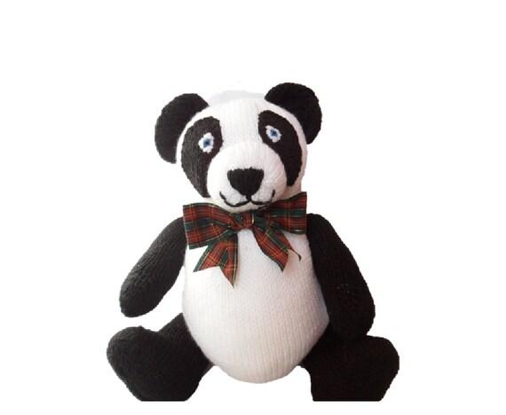 Mac Panda knitting pattern DOWNLOAD chunky /  bulky worsted weight wool