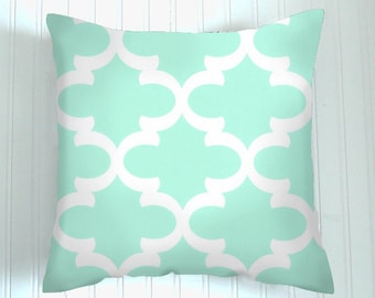 Pillows, Mint  Pillow, Decorative Pillows,Pillow Covers  Green and white  , Decorative Pillows,, Pillows, Throw Pillow,   Pillow