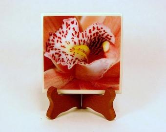 Flowers Heart Handmade Photo Coaster, FI0087