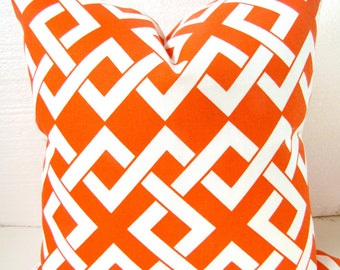Orange OUTDOOR Pillows ORANGE Decorative Throw Pillow Indoor Outdoor Pillow Covers 16x16 Coral .Sale. Home and Living Clearance