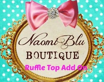 Naomi Blu Add on. White Ruffle Long Sleeve Top