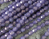 6mm Moon Dust Milky Alexandrite Round Beads - Czech Glass Faceted Round Beads - 25 beads - 1657