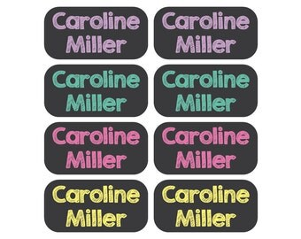 100 - Clothing Tag Labels - Daycare Clothing Labels - Chalkboard Font