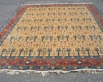1980s Vintage Hand-Knotted 9x12 Peking Chinese Rug (3161)