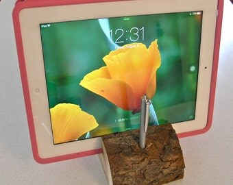 Universal Wild Cherry iPad or tablet and Stylus Holder, made in the USA