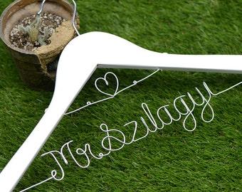 Promotion, Personalized Wedding Hanger, Custom Bridal Hanger, Bride Name Personalized Custom Bridal Hanger, Bridesmaid Hanger