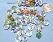 SALE- 38 Lamwork Assorted Vintage Beads