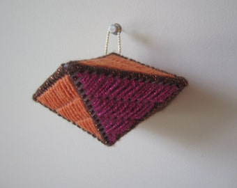 FALL AUTUMN Needlepoint Decahedron Ornament