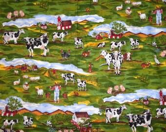 Farm/Farm Animal Cotton Fabric by the Yard