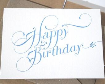 Letterpress Card 'Happy Birthday'