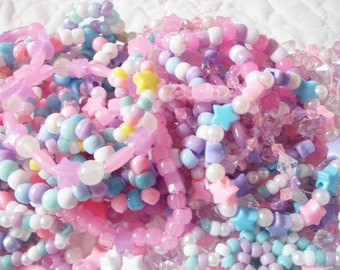 10 Mermaid, Pastel Fairy Kei Bracelets