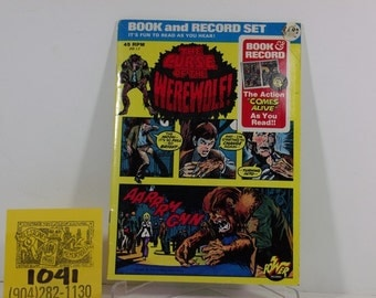 1974 Marvel/Power Records-Curse of the Werewolf-Comic book/record read along