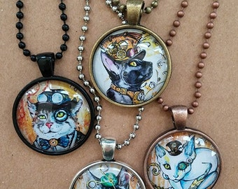 Set of 4 Steampunk Cats