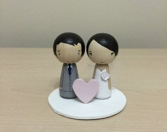 Little Wishes: Kokeshi Wedding Cake Topper