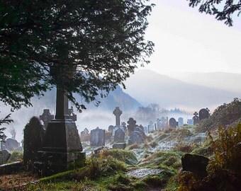 Ireland Photography, Irish Tombstones, Glendalough Cemetery, Wicklow Mountains National Park, Heritage Ireland
