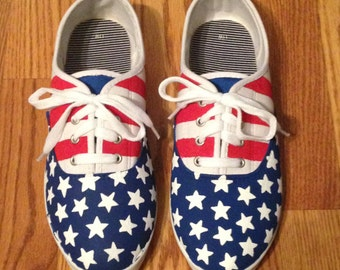 Customized American Flag shoes