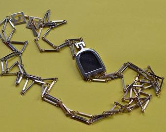 PIERRE CARDIN Vintage chains necklace 1970s