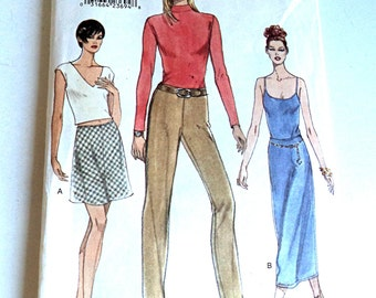 1990's Vintage Vogue 9465 Size 12 14 16 Sewing Pattern Women's Skirt Pants Uncut