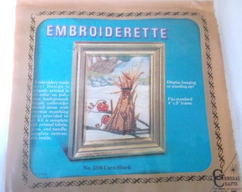Number 4206 Corn Shock Embroiderette Kit General Crafts Fits 4 inches by 5 frame