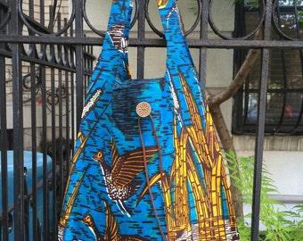 Grocery bag blue bird