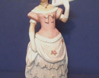 Shall We Dance Homco Lady Figurine in Pink and Blue Numbered 1421