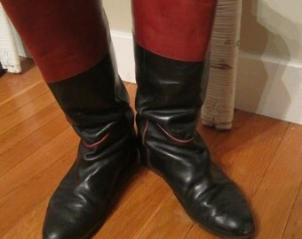 SALE--Vintage English Equestrian Riding Boots English Made~Worn With Love Country Shabby/Mori Girl/Bohemian/Gypsy/ Well-worn Scruffy/Used