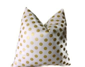 Gold Dot Pillows,Throw Pillows,Gold Decorative Throw Pillow Lumbar Pillow