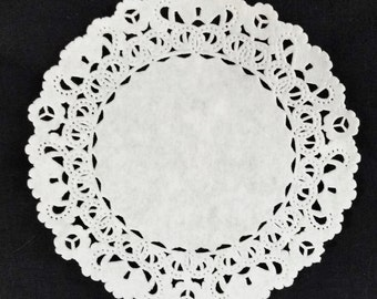 "4"" and 6"" WHITE Normandy PAPER DOILIES 
