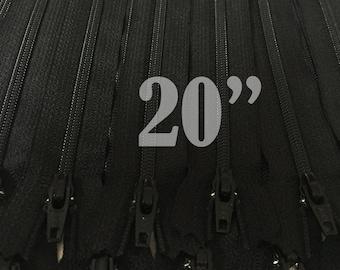 20 inch zippers ykk zippers black zippers nylon zippers 20 inch zips wholesale zippers sampler pack zipper 20 inch black zippers - 25 pieces