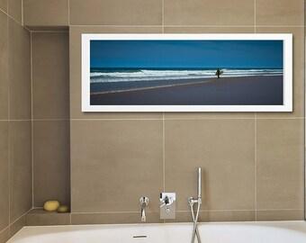 Surfboard Fine Art Photography Surf Board Bathroom Decor Beach Photography Bathroom Art Blue