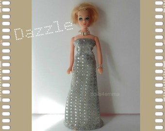 Shimmery GOWN and JEWELRY Set - Dawn Doll Clothes - Custom Fashion - by dolls4emma