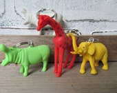 Animal Keychain Vintage Wedding Favor Circus Animal Party Favor