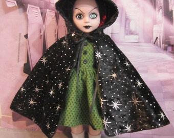 Starry Night - Crushed Velvet Cape for Living Dead Dolls