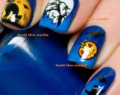 Halloween Nail Art Water Transfer Decal Wraps Bats Pumpkin Ghost Y746