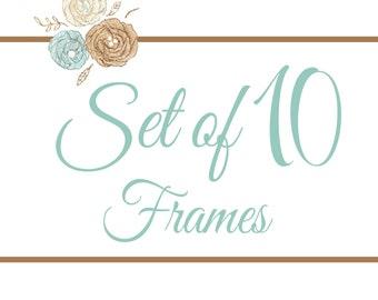 Set of 10 Frames- You Pick Any 8x8 Design