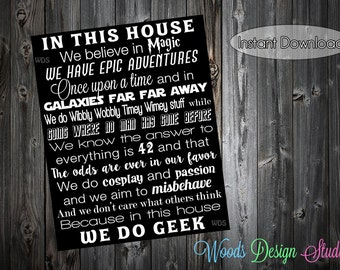 We do Geek // Digital Print // 3 Sizes Included // Instant Download