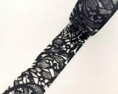 Black Pattern Washi Tape(20mm)