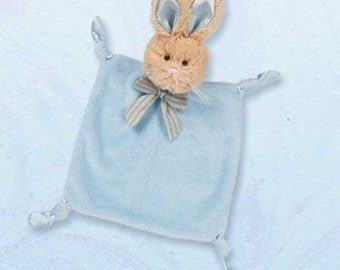 Bearington Baby Personalized Wee Bunny Tail security blankie 197519