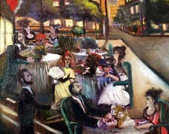 Paris Cafe' - original painting