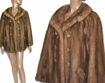 Mink fur coat | Etsy