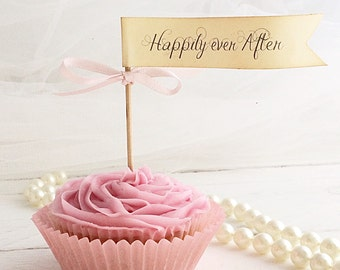 Happily ever After cupcake picks set 12