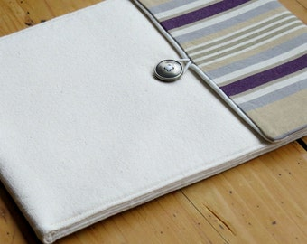 Sale 50% off, Case for Ipad 2 Ipad 3, Padded Ipad case , water resistant Striped Ipad Case, Back to School
